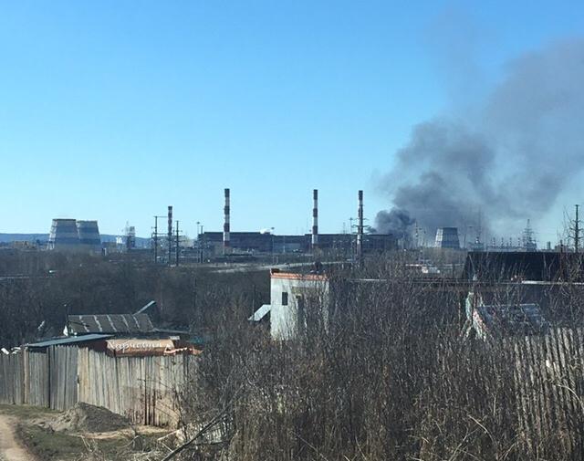 ВПерми нанефтеперерабатывающем заводе случилось  возгорание