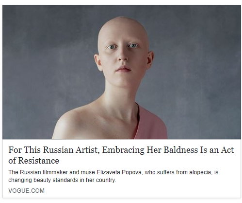 «For This Russian Artist, Embracing Her Baldness Is an Act of Resistance»